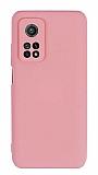 Eiroo Lansman Xiaomi Mi 10T Pro 5G Kamera Korumalı Pembe Silikon Kılıf