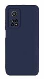 Eiroo Lansman Xiaomi Mi 10T Pro 5G Kamera Korumalı Lacivert Silikon Kılıf