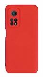 Eiroo Lansman Xiaomi Mi 10T Pro 5G Kamera Korumalı Kırmızı Silikon Kılıf