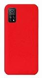 Eiroo Lansman Xiaomi Mi 10T Pro 5G Kırmızı Silikon Kılıf