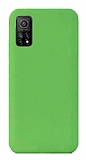 Eiroo Lansman Xiaomi Mi 10T Pro 5G Yeşil Silikon Kılıf
