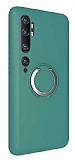 Eiroo Lansman Xiaomi Mi Note 10 Selfie Yüzüklü Yeşil Silikon Kılıf