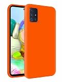 Eiroo Lansman Samsung Galaxy M31s Turuncu Silikon Kılıf
