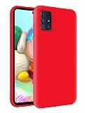 Eiroo Lansman Samsung Galaxy M31s Kırmızı Silikon Kılıf