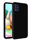 Eiroo Lansman Samsung Galaxy M31s Siyah Silikon Kılıf