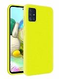 Eiroo Lansman Samsung Galaxy M31s Sarı Silikon Kılıf