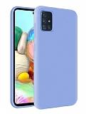 Eiroo Lansman Samsung Galaxy M31s Lila Silikon Kılıf