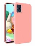 Eiroo Lansman Samsung Galaxy M31s Pembe Silikon Kılıf