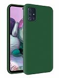 Eiroo Lansman Samsung Galaxy M31s Yeşil Silikon Kılıf
