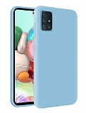 Eiroo Lansman Samsung Galaxy M31s Mavi Silikon Kılıf