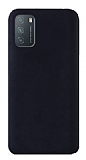 Eiroo Lansman Xiaomi Redmi 9T Siyah Silikon Kılıf