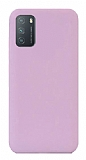Eiroo Lansman Xiaomi Redmi 9T Lila Silikon Kılıf