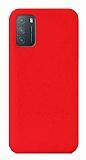 Eiroo Lansman Xiaomi Redmi 9T Kırmızı Silikon Kılıf