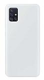 Eiroo Lansman Samsung Galaxy M51 Beyaz Silikon Kılıf