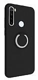 Eiroo Lansman Xiaomi Redmi Note 8T Selfie Yüzüklü Siyah Silikon Kılıf