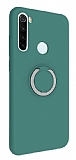 Eiroo Lansman Xiaomi Redmi Note 8T Selfie Yüzüklü Yeşil Silikon Kılıf
