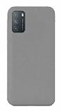 Eiroo Lansman Xiaomi Redmi Note 9 4G Gri Silikon Kılıf