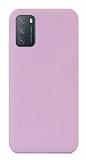 Eiroo Lansman Xiaomi Redmi Note 9 4G Lila Silikon Kılıf