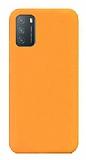 Eiroo Lansman Xiaomi Redmi Note 9 4G Turuncu Silikon Kılıf