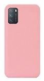 Eiroo Lansman Xiaomi Redmi Note 9 4G Pembe Silikon Kılıf
