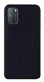 Eiroo Lansman Xiaomi Redmi Note 9 4G Siyah Silikon Kılıf