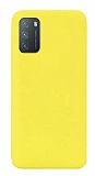 Eiroo Lansman Xiaomi Redmi Note 9 4G Sarı Silikon Kılıf