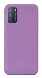 Eiroo Lansman Xiaomi Redmi Note 9 4G Mor Silikon Kılıf