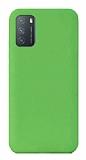 Eiroo Lansman Xiaomi Redmi Note 9 4G Yeşil Silikon Kılıf