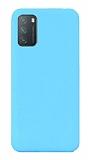 Eiroo Lansman Xiaomi Redmi Note 9 4G Mavi Silikon Kılıf
