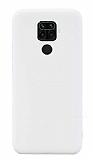 Eiroo Lansman Xiaomi Redmi Note 9 Beyaz Silikon Kılıf