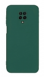 Eiroo Lansman Xiaomi Redmi Note 9 Pro Max Kamera Korumalı Yeşil Silikon Kılıf