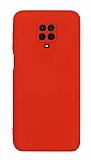Eiroo Lansman Xiaomi Redmi Note 9 Pro Max Kamera Korumalı Kırmızı Silikon Kılıf