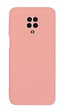 Eiroo Lansman Xiaomi Redmi Note 9 Pro Max Kamera Korumalı Pembe Silikon Kılıf