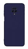 Eiroo Lansman Xiaomi Redmi Note 9 Pro Max Kamera Korumalı Lacivert Silikon Kılıf