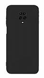 Eiroo Lansman Xiaomi Redmi Note 9 Pro Max Kamera Korumalı Siyah Silikon Kılıf