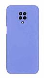 Eiroo Lansman Xiaomi Redmi Note 9 Pro Max Kamera Korumalı Lila Silikon Kılıf