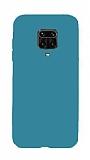 Eiroo Lansman Xiaomi Redmi Note 9 Pro Mavi Silikon Kılıf