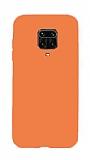 Eiroo Lansman Xiaomi Redmi Note 9 Pro Turuncu Silikon Kılıf