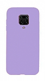 Eiroo Lansman Xiaomi Redmi Note 9 Pro Lila Silikon Kılıf