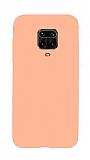 Eiroo Lansman Xiaomi Redmi Note 9 Pro Pembe Silikon Kılıf