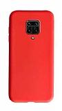 Eiroo Lansman Xiaomi Redmi Note 9 Pro Kırmızı Silikon Kılıf