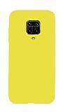 Eiroo Lansman Xiaomi Redmi Note 9 Pro Sarı Silikon Kılıf