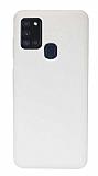 Eiroo Lansman Samsung Galaxy A21s Beyaz Silikon Kılıf