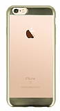 Eiroo Laser Fit iPhone 6 Plus / 6S Plus Gold Kenarlı Metalik Silikon Kılıf
