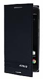 Lenovo A7010 Gizli Mıknatıslı Yan Kapaklı Siyah Deri Kılıf