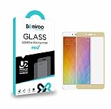 Eiroo Lenovo K6 Note Tempered Glass Gold Full Cam Ekran Koruyucu