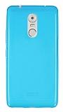 Lenovo K6 Note Ultra İnce Şeffaf Mavi Silikon Kılıf