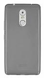 Lenovo K6 Note Ultra İnce Şeffaf Siyah Silikon Kılıf