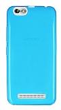Lenovo Vibe C A2020 Ultra İnce Şeffaf Mavi Silikon Kılıf