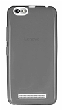 Lenovo Vibe C A2020 Ultra İnce Şeffaf Siyah Silikon Kılıf